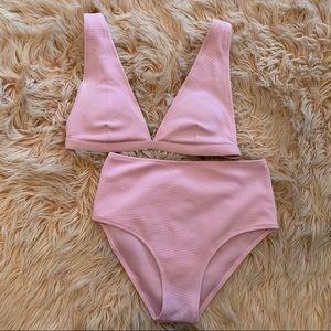 SHEIN Pink High Waist Bikini size M NWOT